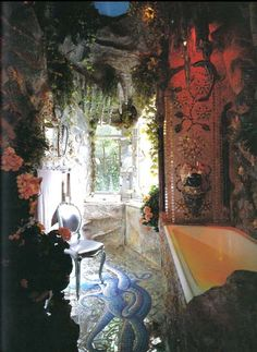 aladdin's cave of wonders for a bathroom, gypsy style.we love this - aladdin's cave of wonders for a bathroom, gypsy style…we love this - Bohemian Bathroom, Bohemian Room, Gothic Bathroom, Bohemian Gypsy, Mermaid Bathroom, Dream Rooms, Woodstock, My Dream Home, Architecture