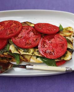 """Grilled Vegetable and Tofu """"Lasagna"""" with Pesto  http://www.marthastewart.com/308961/grilled-vegetable-and-tofu-lasagna-with"""