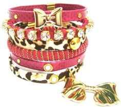 Kit c/ 6 pulseiras Pink e Onça - R$79.00
