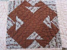 Antique quilt c 1850  T design as is or by fabriquefantastique, $98.00