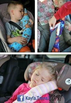 Comfy Seatbelt Cover for car napping DIY