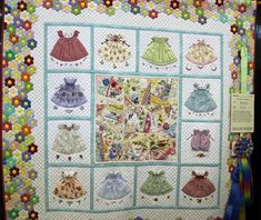Hexagons, original applique, crazy quilting.  LOVE.  Everyday Blossoms (maker and quilter Eun Yeon Yoo). The quilt took first place in Large Applique (Artisan Division) and the Betty J. Carpenter Memorial Award for Overall Handwork.  Dallas Quilt Show 2012.
