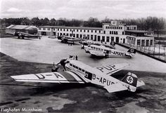 A Junkers Ju-52 at the Mannheim airport
