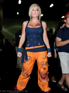 Cosplayer: Jessica Nigri Cosplay: Son Goku from Dragon Ball Z. See other Jessica Nigri Cosplay and Model Spotlights: Cosplay Spotli. Cosplay Goku, Epic Cosplay, Amazing Cosplay, Cosplay Girls, Zombie Cosplay, Anime Cosplay, Halloween Cosplay, Cosplay Costumes, Halloween Ideas