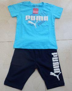 Đồ bộ Puma tay ngắn đáng yêu cho bé http://yeuthoitrang.net