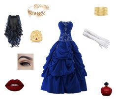 """""""Blue Yule Ball Outfit"""" by crazywriterfangirl90000 ❤ liked on Polyvore featuring Lime Crime, Christian Dior, Forever 21, Kevin Jewelers, harrypotter and yuleball"""