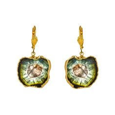 Dara Ettinger Jenny Watermelon Tourmaline Drop Earrings ($195) ❤ liked on Polyvore