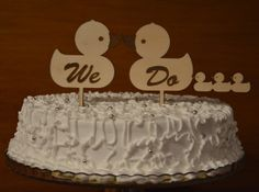 We Do set of love ducks wedding cake topper by URARTDESIGN on Etsy, $9.00