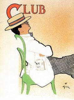 Illustration by René Gruau, Club.