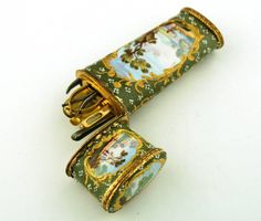 Olive Enamel Etui in Etuis and Chatelaines from Gould Antiques