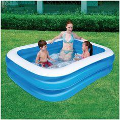 Wilt u lekker met de kinderen in de tuin genieten van het lekkere weer? Dat wordt nu nog leuker wanneer u een echt 2-rings familie zwembad aanschaft.   Dit 2-rings familie zwembad heeft een afmeting van 201x150 cm en is 51 cm diep, waardoor het enorm geschikt is voor de wat kleinere kinderen. Het zwembad wordt geleverd in de kleur blauw.