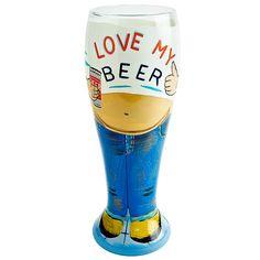 Lolita Beer Belly Pilsner Glass 22.9oz / 650ml | Hand Painted Beer Glass Pilsner Glasses - Buy at drinkstuff