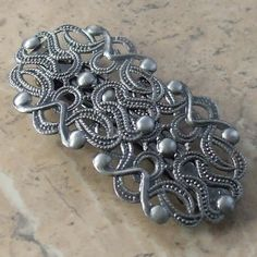Antique silver ornate hair clip | vintage hair accessory | Jewels & Finery UK