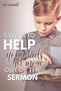 Discipleship is our focus as parents. Wondering how we can better encourage our kids in church? You'll love these 5 ways to help your kids get more out of the sermon.