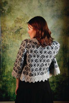 Ravelry: Mackintosh Rose Jacket pattern by Martin Storey from the Rowan book Scottish Heritage Knits.