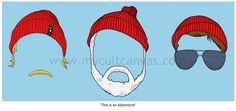 """Original """"This is an Adventure"""" Art Print Poster by Phil Gibson Wes Anderson The Life Aquatic Steve Zissou. $22.00, via Etsy."""