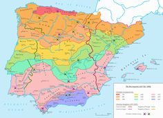 Today in European history: the Battle of Las Navas de Tolosa European History, World History, Map Of Spain, Historical Maps, Middle Ages, Middle East, Planer, Medieval, Battle