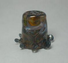 Art en verre lampwork verre-argent de dé à par ArtandSoulStudios