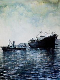 Vincenzo Todaro, (un)memory #011 - Sea, acrilici e smalti su tela, 200X150, 2009