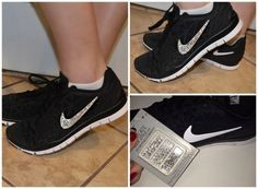 Cheap diy bedazzled nikes