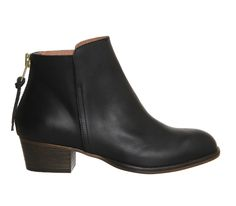 Office Uncanny Black Leather - Ankle Boots. £75