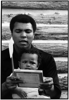 Steve Wilstein, Champ and Future Champ: Muhammad and Laila Ali, Deer Lake, PA, 1978 Laila Ali, Hometown Heroes, Sport Icon, Influential People, Sports Figures, Muhammad Ali, Boxing Gloves, American Comics, Comic Character