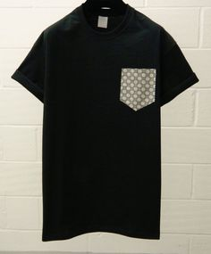 Men's Black and White Daisy on Black Pattern by HeartLabelTees, £9.95