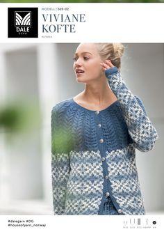 Kvalitet fra naturen siden 1879. Vi ønsker å inspirere deg – både med flott design og fantastiske garnkvaliteter. Dale Garn er din garanti for kvalitet og faglig kompetanse. Cardigan Design, Knitwear, Knit Crochet, My Design, Sweaters For Women, Pullover, Knitting, Vests, Cardigans