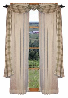 Primitive Country Window Treatments | rustic window treatment black pine curtain rustic window treatments ...