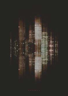 City Sound Retoka, an Art Direction, Graphic Design, and Digital Art Studio in Barcelona, Spain created these interpretations of cities as images of sound. Nocturne, Sound Installation, Sound Art, Light Pollution, Glitch Art, Tecno, Sound Waves, Oeuvre D'art, Art Studios