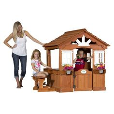Backyard Discovery Scenic All Cedar Playhouse