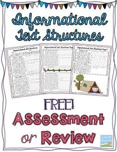 Close reading passage 45th grade informational texts free 5th heres an assessment or review resource on recognizing informational text structures annotating ccuart Gallery