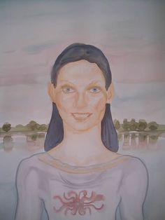 """http://www.piziarte.net/ #Opera #presente NEL #MAGAZZINO_DI_PIZIARTE #SAVINA_LOMBARDO """"Elena"""" 2007  acquerello su carta cm 76 x 56  #artecontemporanea #contemporaryart #artist #artista"""