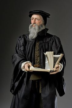 Portrait length color image of influential French theologian and pastor John Calvin during the Protestant Reformation. He was the principal figure of the Christian theology later called Calvinism, by George Stuart. Reformation Day, Protestant Reformation, Martin Luther, Leo Tolstoi, Renaissance And Reformation, Reformed Theology, Catholic Doctrine, Christian Religions, Reformation