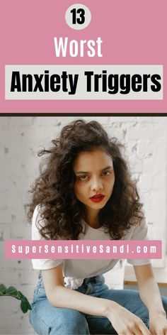 Anxiety can be caused by many factors but we can make our symptoms worse with anxiety triggers. Find out what are the 13 worst common anxiety triggers! What Causes Anxiety, How To Calm Anxiety, Anxiety Tips, Deal With Anxiety, Anxiety Help, Stress And Anxiety, Natural Anti Anxiety, Natural Remedies For Anxiety, Anxiety Remedies