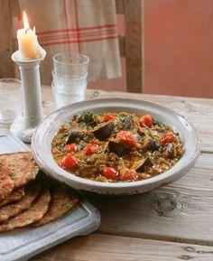 Indischer Linseneintopf mit Aubergine | http://eatsmarter.de/rezepte/indischer-linseneintopf-mit-aubergine