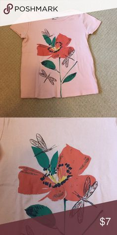 Baby Gap Graphic Top Cotton shirt. Flower and dragonfly graphic. GAP Shirts & Tops Tees - Short Sleeve