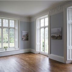 Grey Hallway Lighting Farrow Ball 32 Ideas For 2019 House, Interior, Home, Gray Painted Walls, Farrow And Ball Paint, Ceiling Trim, Farrow Ball, White Rooms, Room Paint