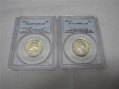 PCGS PR69DCAM Washington Quarters 1984-S, 1985-S - EBay price $24.99 (sale price) + free shipping