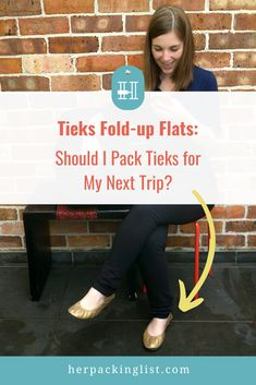Tieks may cost a lot, but the real question is whether or not they're worth it. If you've been wondering if you need Tieks for travel, you should read this review post with tips on when you should and shouldn't pack your Tieks for vacation! Click to find out more about Tieks --> #herpackinglist #hplworld #packinglight #travelshoes #tieks #tiekslove #tieksreview Travel Outfits, Travel Shoes, Tieks Reviews, Her Packing List, Tieks Ballet Flats, Packing Light, Folded Up, How To Find Out, Things To Come
