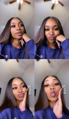 Baddie Hairstyles, Black Girls Hairstyles, Cute Hairstyles, Braided Hairstyles, Pretty Black Girls, Black Is Beautiful, Curly Hair Styles, Natural Hair Styles, Dyed Natural Hair
