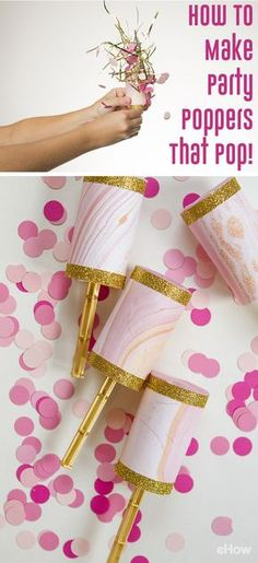 Confetti poppers is exactly what your next party and celebrating is needing! Using pastry tubes, these poppers are easy to make and really add a lot of pizzazz to your party. www.ehow.com/...