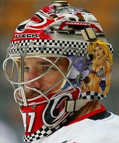 Hockey mask  Carolina hurricanes goalie
