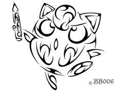 Jigglypuff tribal tat