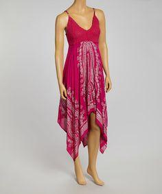a60c207884a Fuchsia Crocheted Handkerchief Dress  zulilyfinds Handkerchief Dress