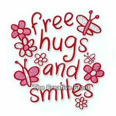 hugs and smiles images - Google Search Smile Images, Free Hugs, Big Hugs, Heat Transfer, Glitter, Diy Crafts, Creative, Grandkids, Bears