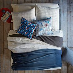 Layered Bed Looks - Blue Dreams