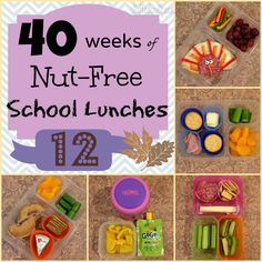 Week 12 of 40 Weeks of Nut Free Kids School Lunches including one turkey Thanksgiving themed lunch StuffedSuitcase.com lunchbox