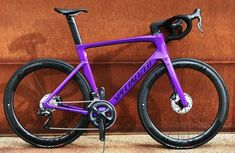 Bicycle Paint Job, Bicycle Painting, Road Cycling, Cycling Bikes, Specialized Road Bikes, Bike Design, Bike Stuff, Purple, Vehicles