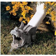 Gothic Dragon Gargoyle Downspout Rainspout Sculpture Statue